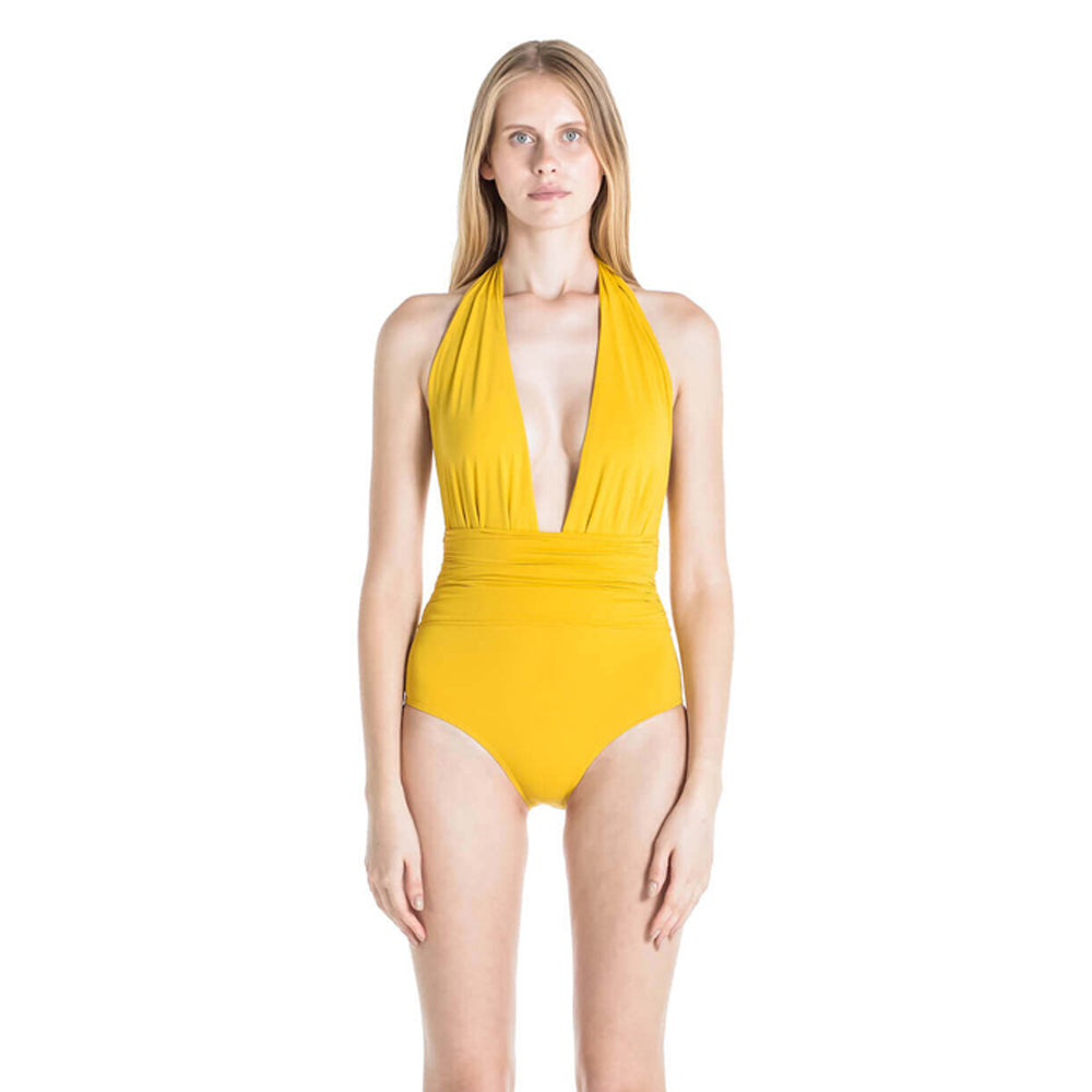 Eva One Piece Swimsuit in Mustard