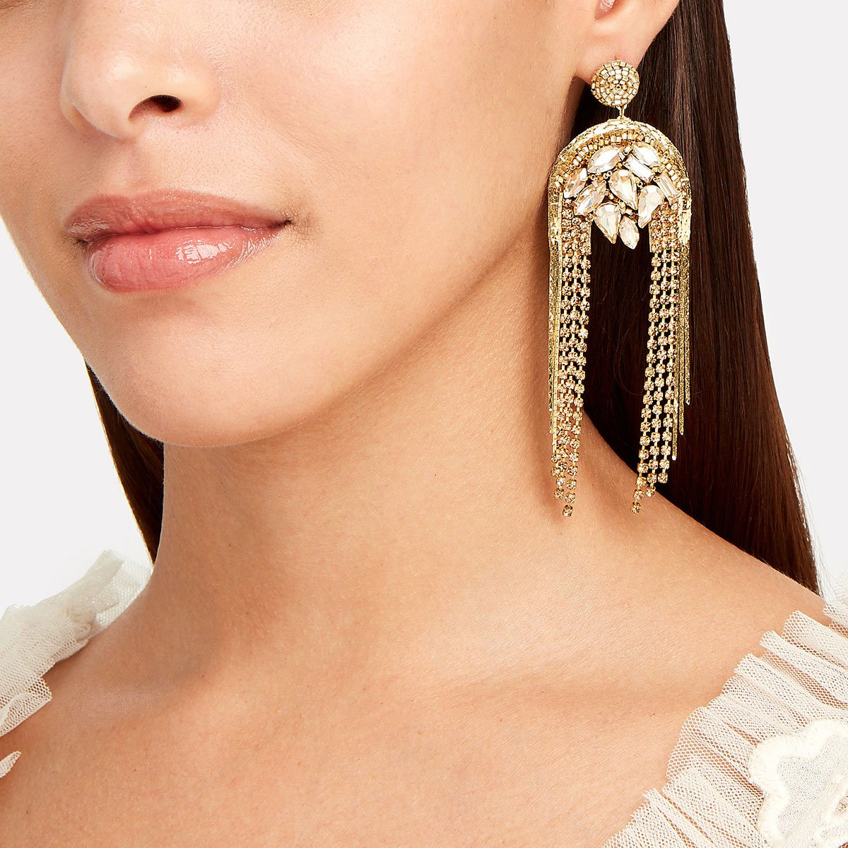 Deepa Gurnani Handmade Fashion Chandelier Earrings