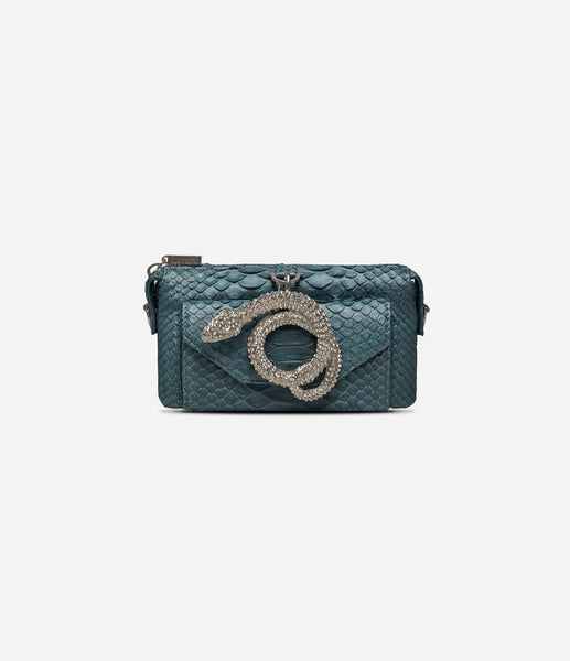 Python Micro Purse Wallet Teal