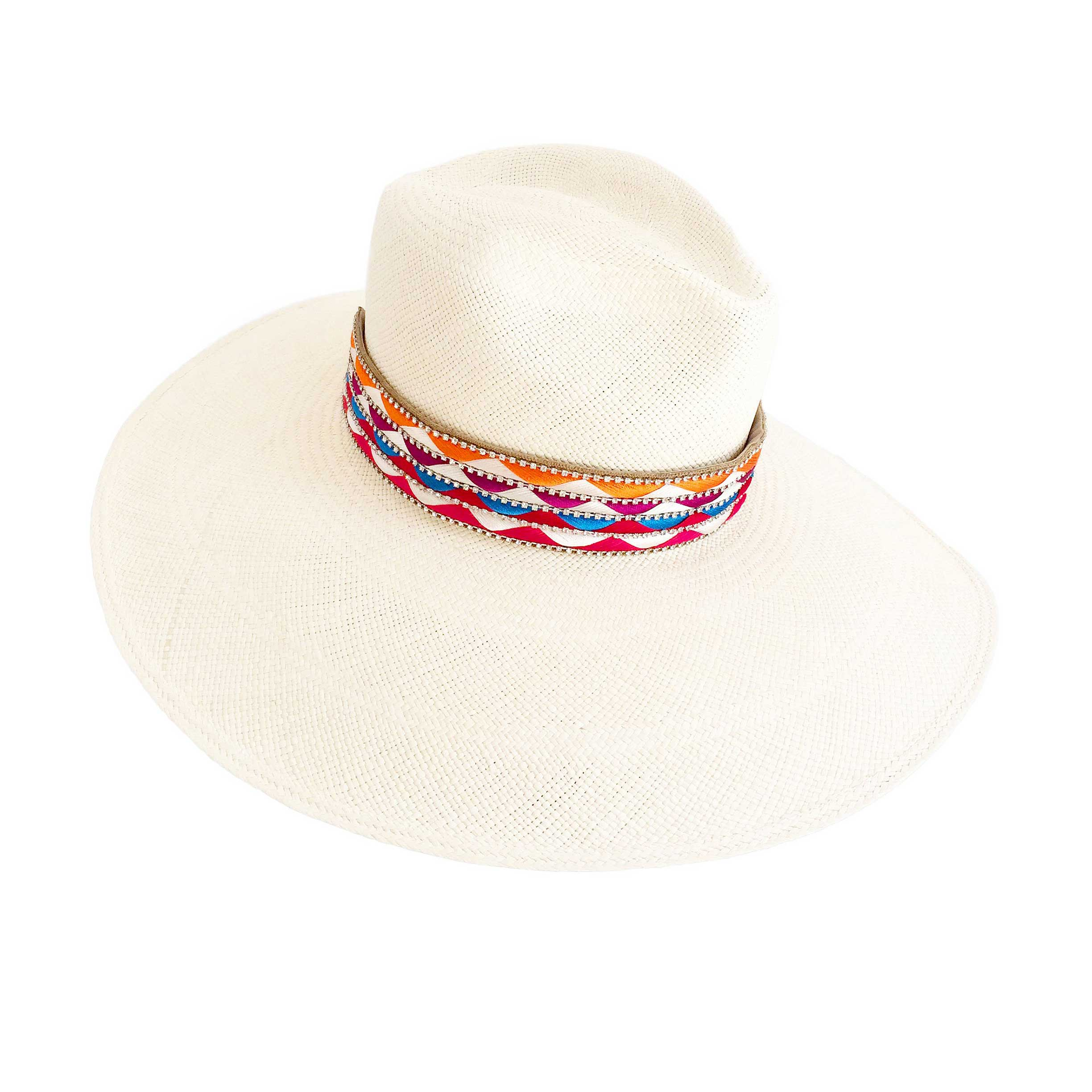 The Mallorca Blue Woven Panama Hat