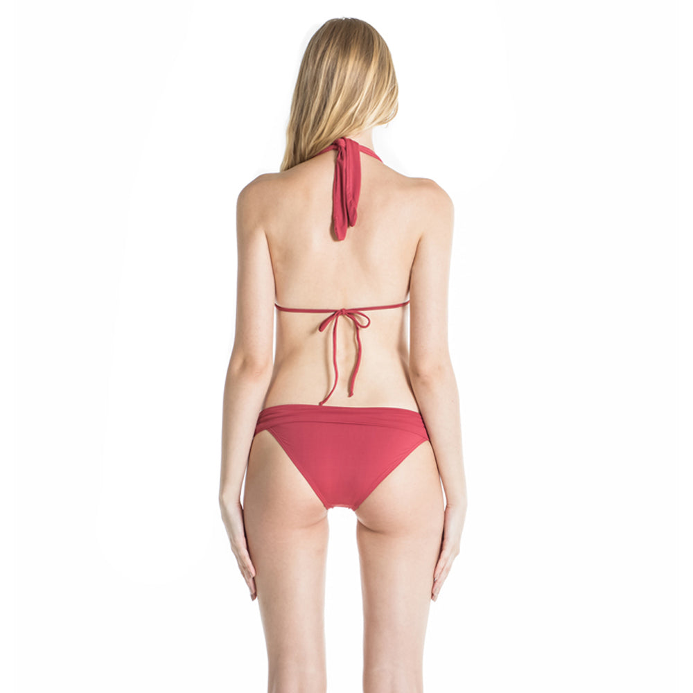 Nina Halter Bikini Bottom in Terracota