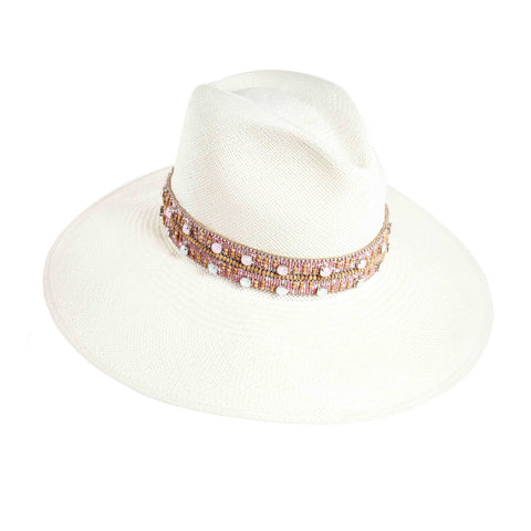 The Paros Pink Crystal Panama Hat