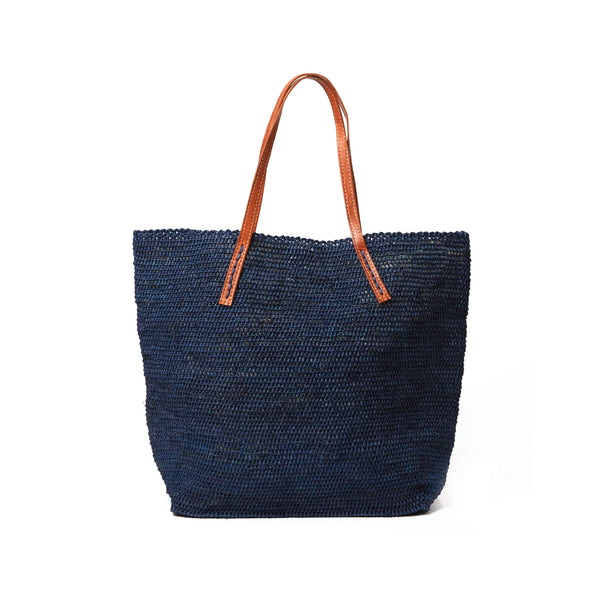 Portland Navy Soft Shoulder Tote Bag