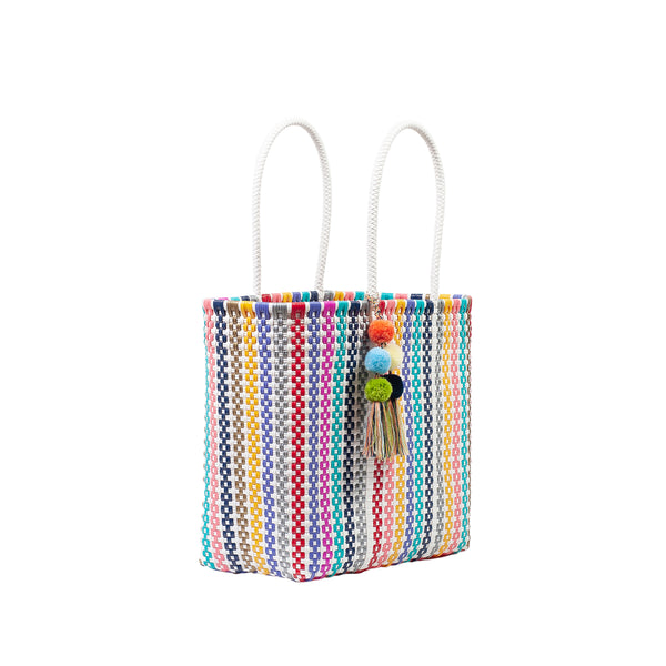 Medium Open Woven Colorina Tote