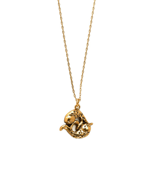 Koi Fish Necklace Gold