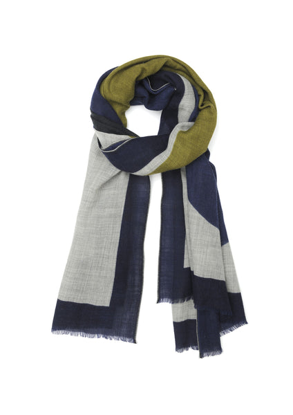 Moismont Wool Scarf, Design 373, Navy