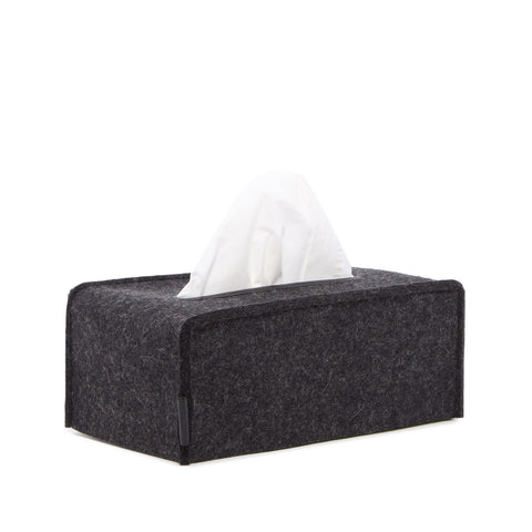 Graf Lantz Felt Large Tissue Box Cover, Charcoal