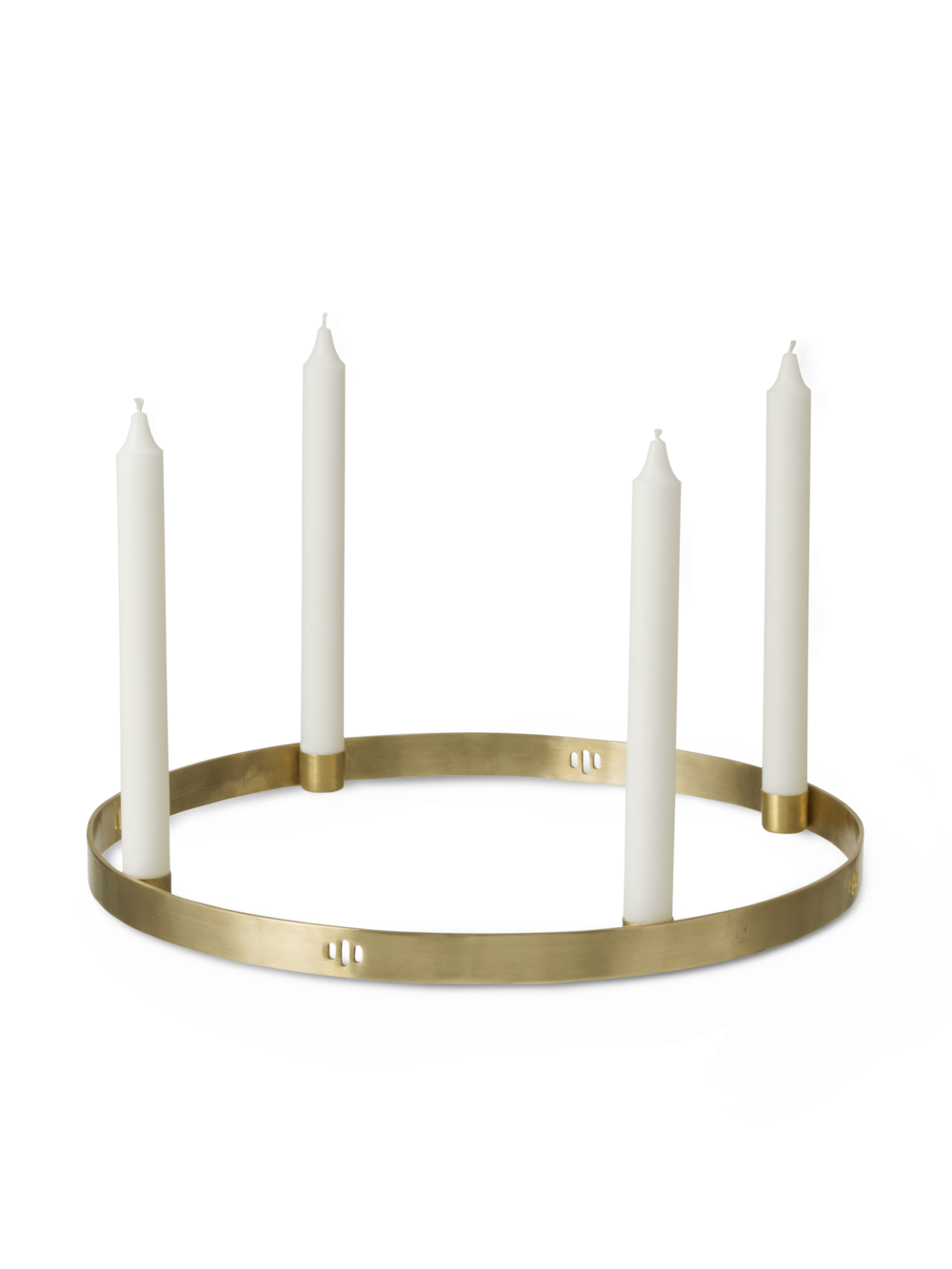 Ferm Living Brass Circle Candleholder, Large