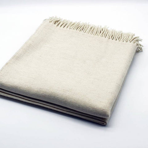Merino Wool Bed Throw, Oatmeal