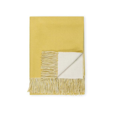 Baby Alpaca Double-Sided Throw, Natural/Citrus