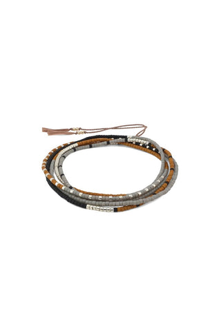 Kego Wrap Bracelet / Necklace, Cloudscape