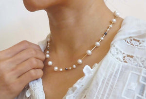 Cinq Crown Pearl Necklace