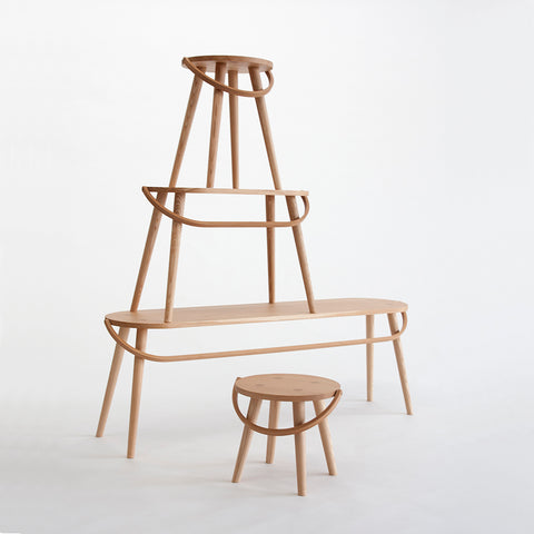 The Bucket Stool Collection - Acacia