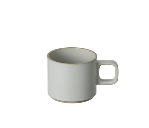 Hasami Porcelain 11 oz. Mug, Gloss Grey Color , Ceramic Mug, Acacia