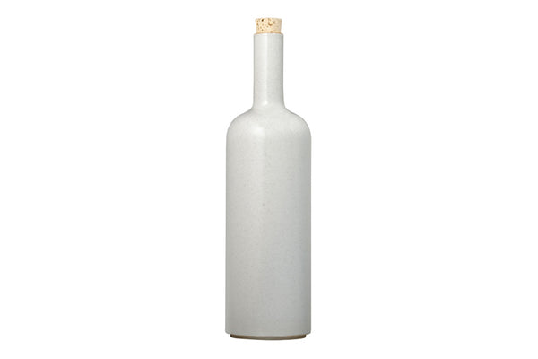 Hasami Porcelain Bottle, Gloss Grey - Acacia