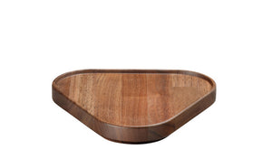 Hasami Porcelain Wood Plate / Tray - Triangle, Walnut - Acacia