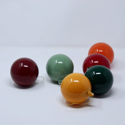 Retro Glass Ball Ornaments - Acacia