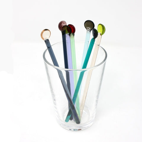 Kanami Takeda Glass Cocktail Stirrers - Acacia