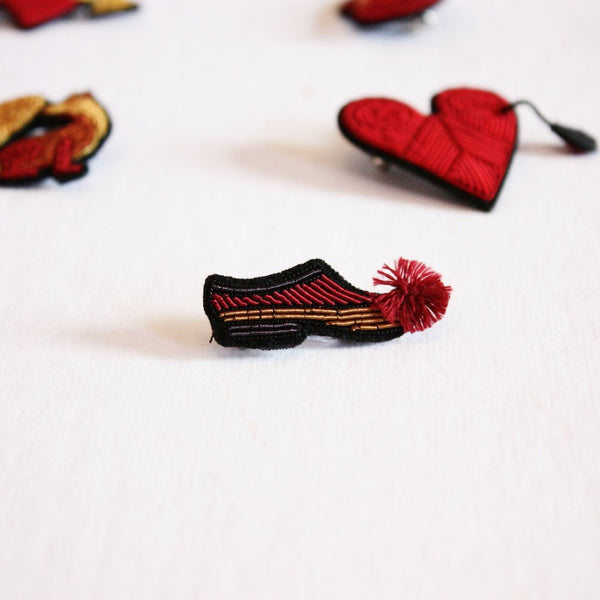 Macon et Lesquoy Hand-Embroidered Pins - Acacia
