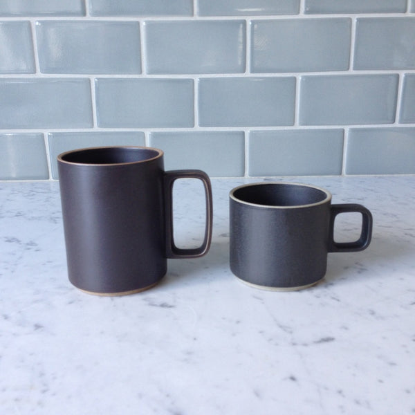 Hasami Porcelain 11 oz. Mugs, Black - Acacia