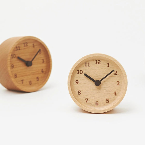 Muku Desk Clock - Acacia