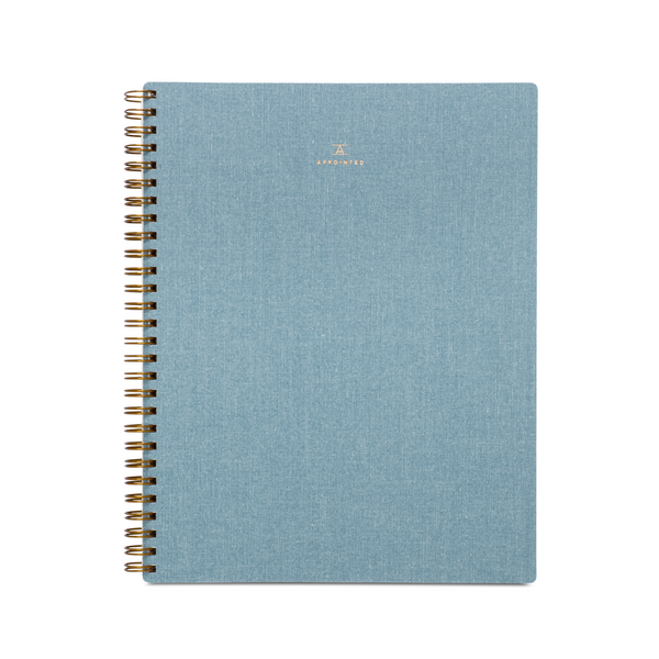 Appointed Notebook, Chambray Blue