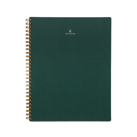 Appointed Notebook, Hunter Green