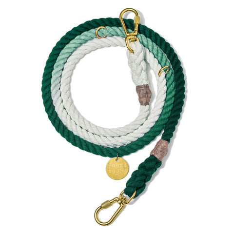 Adjustable Rope Leash, Teal Ombre