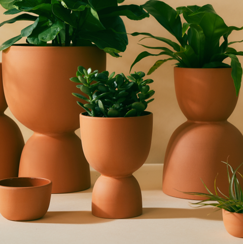 Stacked Terracotta Planters