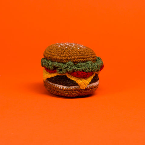 Hand Knit Hamburger - Acacia