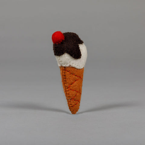 Wool Ice Cream Cone Cat Toy