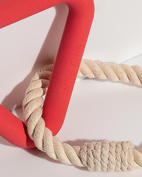 Triangle Tug - Coral Red