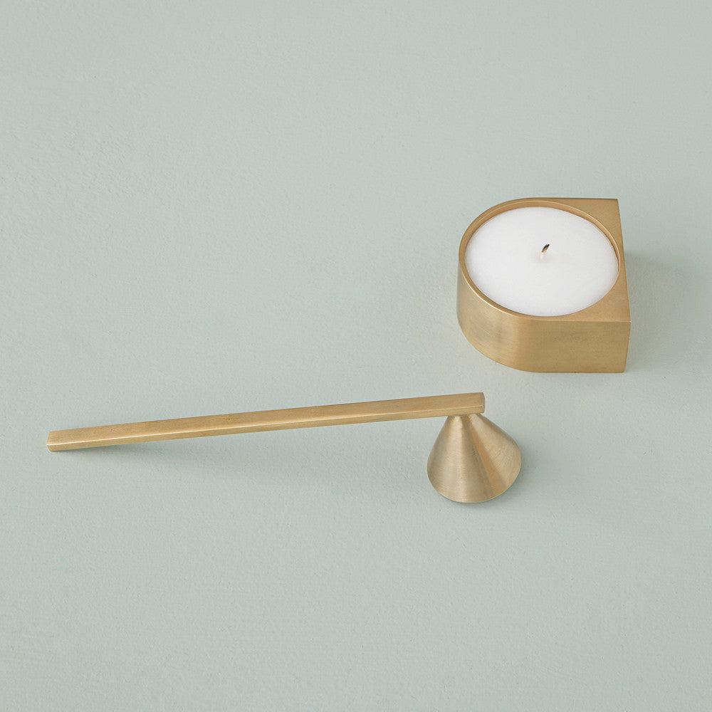 Brass Candle Snuffer - Acacia