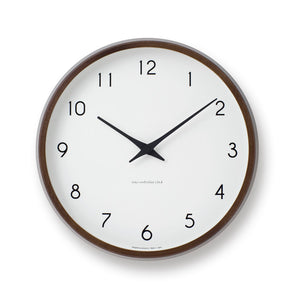 Campagne Clock, Brown - Acacia