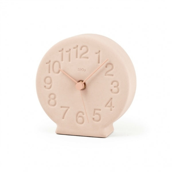 Earth Desk Clock, Blush