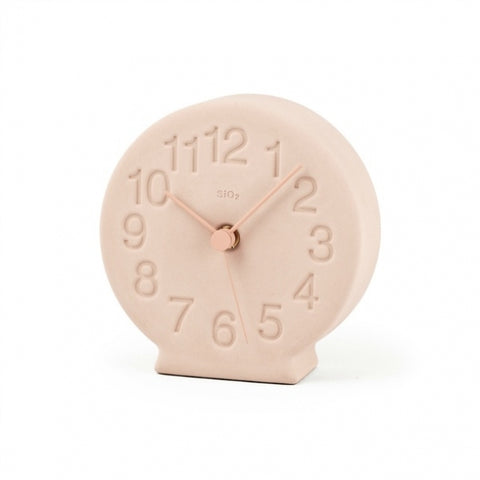 Earth Desk Clock, Blush - Acacia