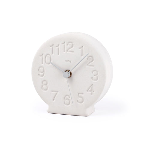 Earth Desk Clock, Light Grey - Acacia