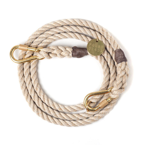 Adjustable Rope Leash, Jute - Acacia