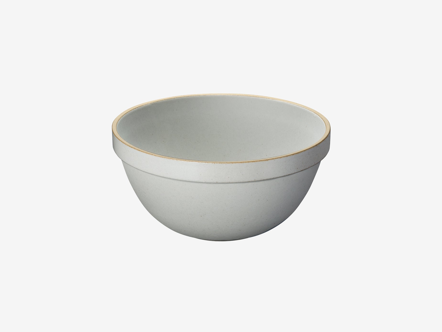 Hasami Porcelain Deep Round Bowl - Large, Gloss Grey