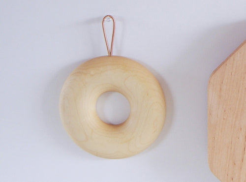Kakudo Bagel Trivet, Two Sizes - Acacia