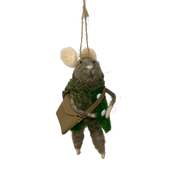 Woodland Mice Felt Ornaments