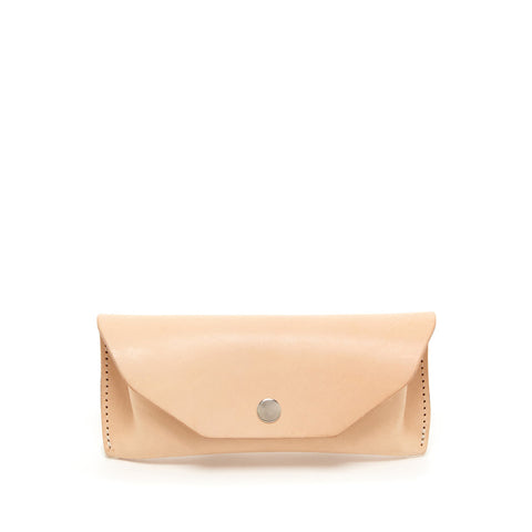 Leather Eyeglass Case, Natural - Acacia