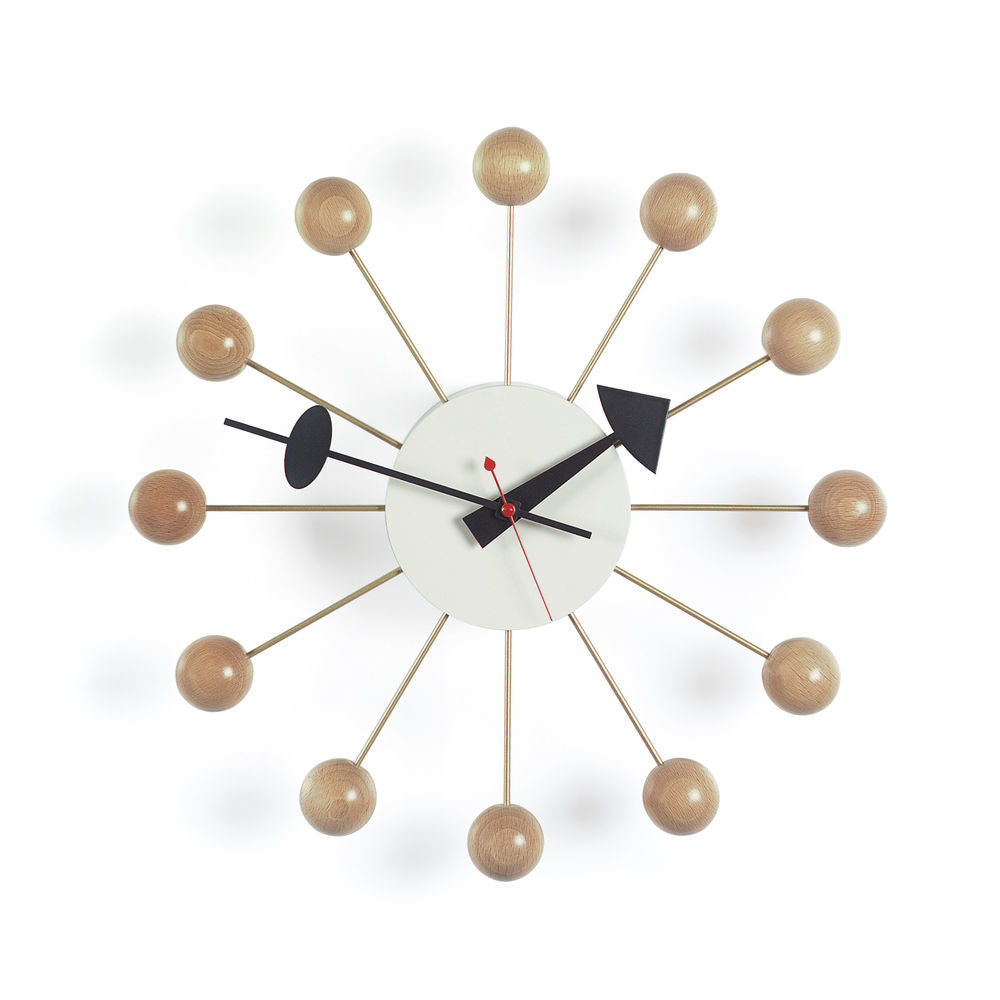 Nelson Ball Clock, Natural - Acacia