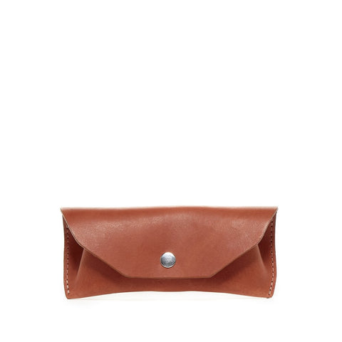 Leather Eyeglass Case, Brandy - Acacia