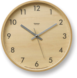 Plywood Grey Clock - Acacia