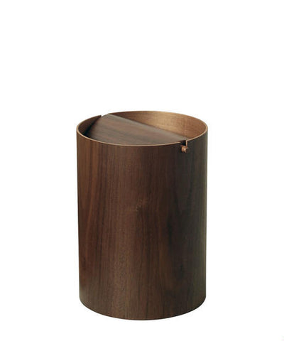 Saito Wood Walnut Waste Receptacle
