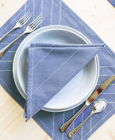 Arrow Napkins, Slate - Acacia
