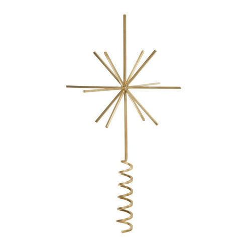 Brass Christmas Tree Star - Acacia