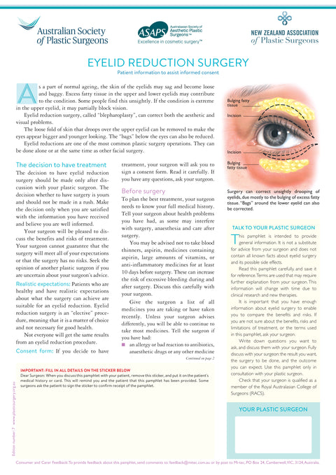 Eyelid Reduction Surgery