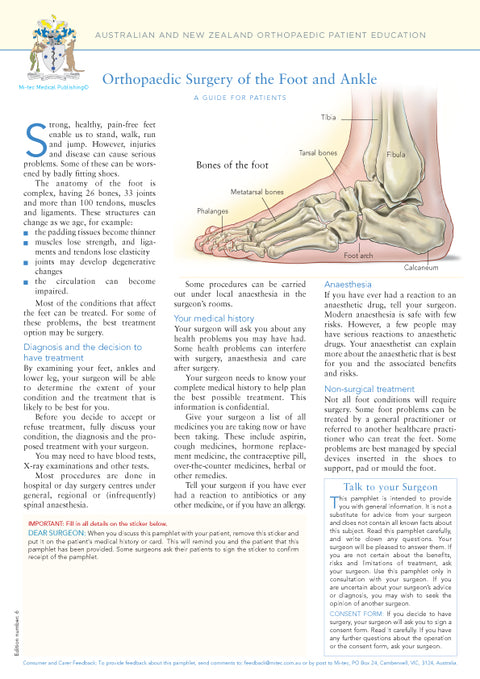 Orthopaedic Surgery of the Foot and Ankle